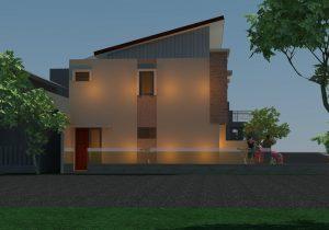 Bangun rumah kontrakan minimalis ukuran 4x12 tingkat 2 di depok