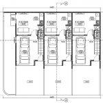 Denah Lantai 1 rumah kontrakan tingkat di kavling 14x12