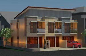 Gambar arsitek rumah kontrakan 2 tingkat minimalis di depok