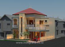Model rumah terbaru ukuran 12 x 15 di jatiasih kota bekasi