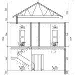 Potongan 1 model rumah minimalis di cibubur