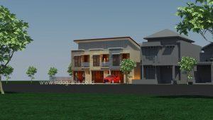 Rumah kontrakan 2 kamar tidur dan garasi cocok untuk keluarga kecil