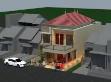 Rumah minimalis di kavling ukuran 8x20 perumahan the address cibubur