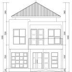 Tampak depan arsitek rumah minimalis di cimanggis tapos cibubur